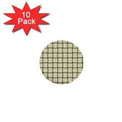 Cream Weave 1  Mini Button (10 Pack) by BestCustomGiftsForYou
