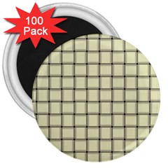 Cream Weave 3  Button Magnet (100 Pack) by BestCustomGiftsForYou