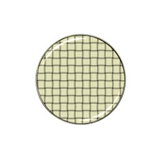 Cream Weave Golf Ball Marker (for Hat Clip) by BestCustomGiftsForYou