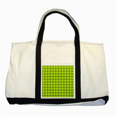 Fluorescent Yellow Weave Two Toned Tote Bag by BestCustomGiftsForYou