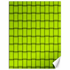 Fluorescent Yellow Weave Canvas 12  X 16  (unframed) by BestCustomGiftsForYou
