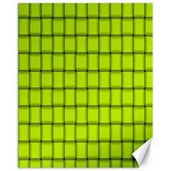 Fluorescent Yellow Weave Canvas 16  X 20  (unframed) by BestCustomGiftsForYou