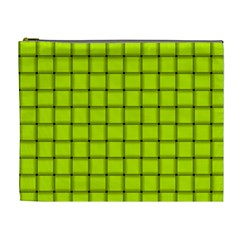 Fluorescent Yellow Weave Cosmetic Bag (XL) by BestCustomGiftsForYou