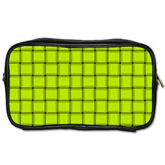 Fluorescent Yellow Weave Travel Toiletry Bag (one Side) by BestCustomGiftsForYou