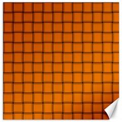 Orange Weave Canvas 12  X 12  (unframed) by BestCustomGiftsForYou