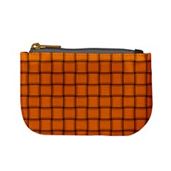 Orange Weave Coin Change Purse