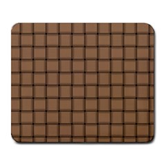 Cafe Au Lait Weave Large Mouse Pad (rectangle) by BestCustomGiftsForYou
