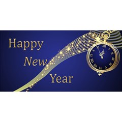 Bright Blue New Year 3d Card By Deborah   Happy New Year 3d Greeting Card (8x4)   P2241spz9jzz   Www Artscow Com Front