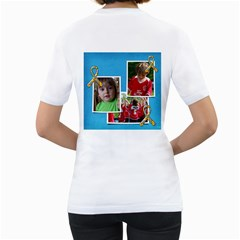 Autism Charity Walk, Awareness White Tshirt By Mikki   Women s T Shirt (white) (two Sided)   W31z32hlq50l   Www Artscow Com Back
