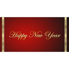 Red And Gold New Year 3d Card By Deborah   Happy New Year 3d Greeting Card (8x4)   Hw78my7x3hxt   Www Artscow Com Front