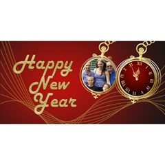 Red Time Happy New Year 3d Card By Deborah   Happy New Year 3d Greeting Card (8x4)   W5d0zj5qkwtd   Www Artscow Com Front