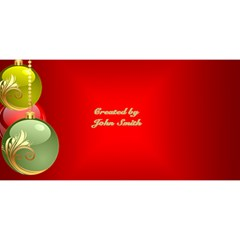 My Christmas  2 3d Card By Deborah   Merry Xmas 3d Greeting Card (8x4)   6afzwusx6ugl   Www Artscow Com Back