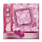 Spring Pink Love face  towel - Face Towel