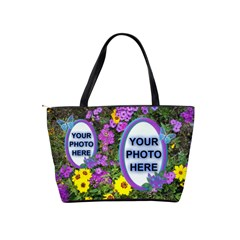 Wildflower Shoulder Bag By Joy Johns   Classic Shoulder Handbag   Xkuvocy9h1h8   Www Artscow Com Back