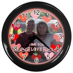 Circle of Love Clock in Black - Wall Clock (Black)