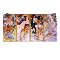 Four Seasons By Alphonse Mucha 1895 Pencil Case by EndlessVintage