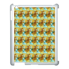 Vase With Twelve Sunflowers By Vincent Van Gogh 1889  Apple iPad 3/4 Case (White)