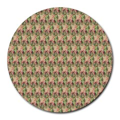Vintage Girl 8  Mouse Pad (Round) by EndlessVintage