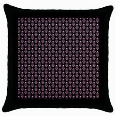 Vintage Wallpaper Black Throw Pillow Case