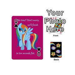 Queen Pony Cards 1 (with Pips) By Aaron   Playing Cards 54 (mini)   2o8z6z0rhuyz   Www Artscow Com Front - SpadeQ