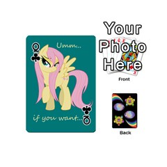 Queen Pony Cards 1 (with Pips) By Aaron   Playing Cards 54 (mini)   2o8z6z0rhuyz   Www Artscow Com Front - ClubQ