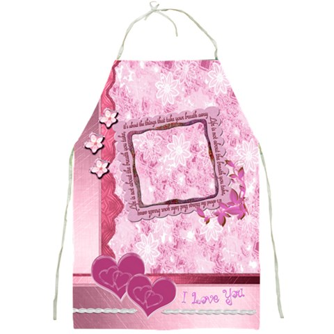 Life Love Pink Memory Apron Apron By Ellan   Full Print Apron   6iacpmut2jar   Www Artscow Com Front
