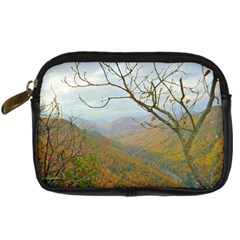 Way Above The Mountains Digital Camera Leather Case by Majesticmountain