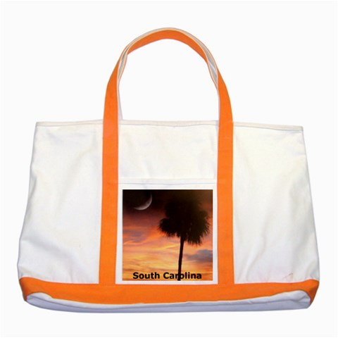 South Carolina Orange Two Tone Tote By Eleanor Norsworthy   Two Tone Tote Bag   Oehup694g062   Www Artscow Com Front