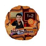 back to school - Standard 15  Premium Round Cushion