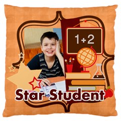 Back To School By School   Large Cushion Case (two Sides)   T3dtwqhlwbkc   Www Artscow Com Front