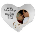 Friendship 19  Heart Shape Cushion - Large 19  Premium Heart Shape Cushion