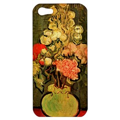 Still Life Vase With Rose Mallows By Vincent Van Gogh 1890  Apple iPhone 5 Hardshell Case