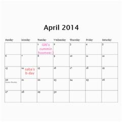 Calander Papi Mami By Giti   Wall Calendar 11  X 8 5  (12 Months)   33uz5vlwmimp   Www Artscow Com Apr 2014