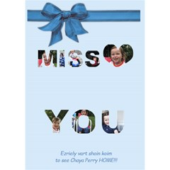 Zrilly By Mindy   Miss You 3d Greeting Card (7x5)   Q0nenthq0t5f   Www Artscow Com Inside