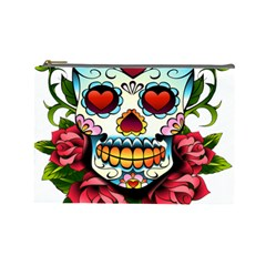 Sugar Skull Cosmetic Bag (Large) by EndlessVintage