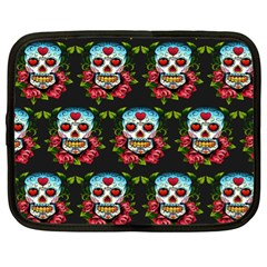 Sugar Skull Netbook Case (XL) by EndlessVintage