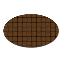 Brown Nose Weave Magnet (oval) by BestCustomGiftsForYou