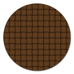 Brown Nose Weave Magnet 5  (Round)
