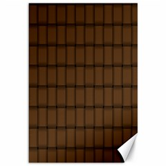 Brown Nose Weave Canvas 12  X 18  (unframed)