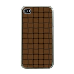 Brown Nose Weave Apple Iphone 4 Case (clear) by BestCustomGiftsForYou
