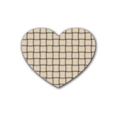 Champagne Weave Drink Coasters 4 Pack (heart)  by BestCustomGiftsForYou