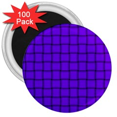 Violet Weave 3  Button Magnet (100 Pack) by BestCustomGiftsForYou