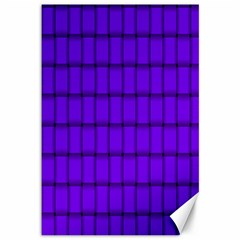 Violet Weave Canvas 12  X 18  (unframed) by BestCustomGiftsForYou