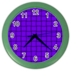 Violet Weave Wall Clock (Color)