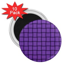Amethyst Weave 2 25  Button Magnet (10 Pack) by BestCustomGiftsForYou