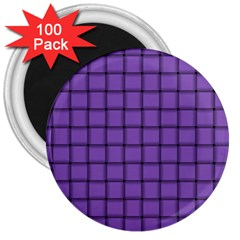 Amethyst Weave 3  Button Magnet (100 Pack)