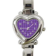 Amethyst Weave Heart Italian Charm Watch  by BestCustomGiftsForYou