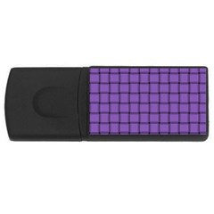 Amethyst Weave 4gb Usb Flash Drive (rectangle) by BestCustomGiftsForYou