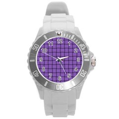 Amethyst Weave Plastic Sport Watch (large) by BestCustomGiftsForYou