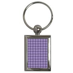 Light Pastel Purple Weave Key Chain (rectangle) by BestCustomGiftsForYou